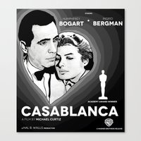 casablanca Canvas Prints featuring Casablanca by Matheus Greche