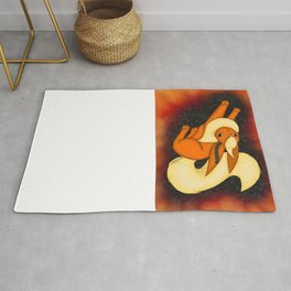 Flames of fire Rug