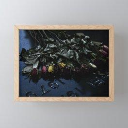The Flowers Knelt Framed Mini Art Print