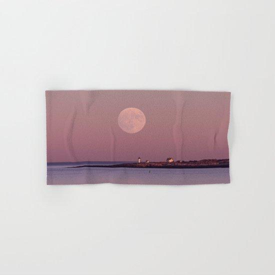 Lighthouse Moonrise Hand & Bath Towel