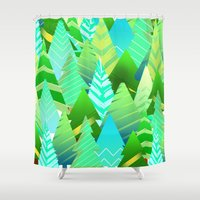 portland Shower Curtains featuring Portland by Maura McGonagle