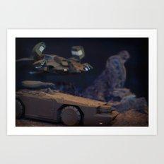 Aliens Landscape Art Print