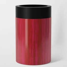 Strawberry Colored Vertical Stripes Can Cooler