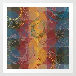 Vintage Spirals Art Print