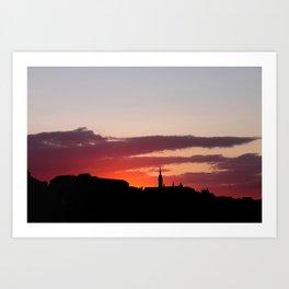 Sunset  - JUSTART © Art Print