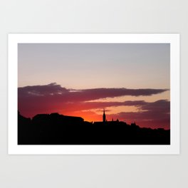 Sunset  - JUSTART © Art Print