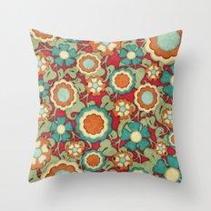 Autumn Floral Throw Pillow