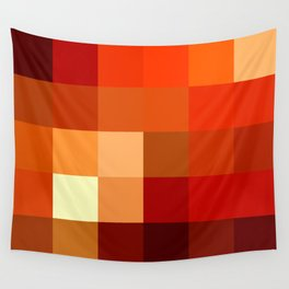 BLOCKS - RED TONES - 1 Wall Tapestry