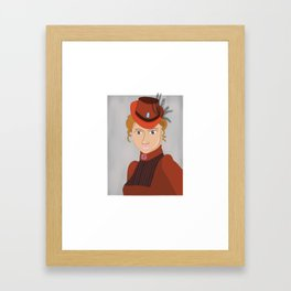 Lady in a Victorian Hat Framed Art Print