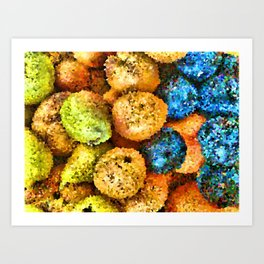 crystallized fruits Art Print