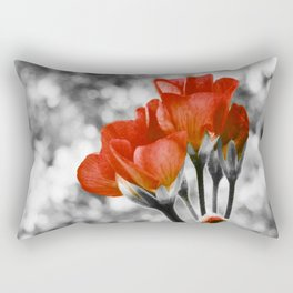Living Coral Flowers Pop of Color Rectangular Pillow