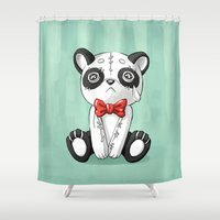 doll Shower Curtains featuring Panda Doll by Freeminds