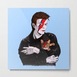 David & The cat Metal Print