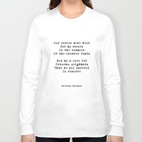 poem Long Sleeve T-shirts featuring Our Cities (poem) by Brendan Bonsack