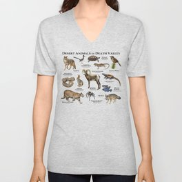 Desert Animals of Death Valley Unisex V-Neck