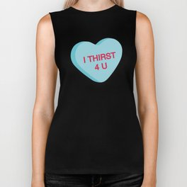 Catholic Conversation Heart I Thirst for You Biker Tank