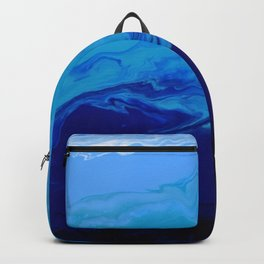High Tide Blue Turquoise Water Fluid Abstract Backpack