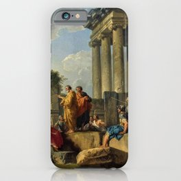 Giovanni Paolo Pannini's Masterpiece: The Apostle Paul Preaching on the Ruins. iPhone Case