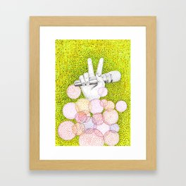 Pointillism Framed Art Print