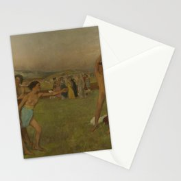 Young Spartans Exercising Stationery Cards