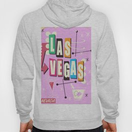 Vintage Las Vegas Vacation print pink version Hoody
