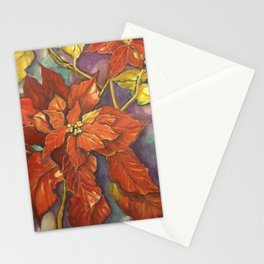 Christmas Poinsettia Stationery Cards