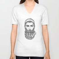 sailor V-neck T-shirts featuring Sailor by Thea Nordal