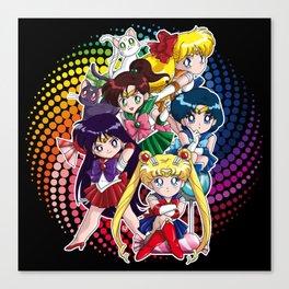Sailor Moon - Chibi Candy (black edition) Canvas Print