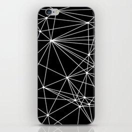Black & White Geometric Web II iPhone Skin