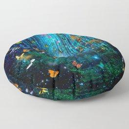 Magical Path Butterflies Floor Pillow