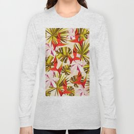 Tropical Pattern Long Sleeve T-shirt