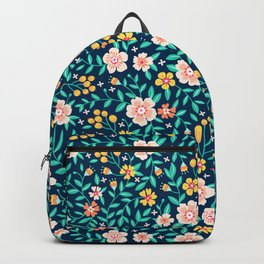 "Cute Floral pattern in the small flower. ""Ditsy print"". Backpack"