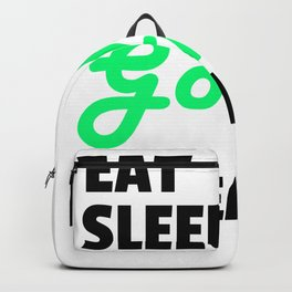eat sleep golf repeat Backpack