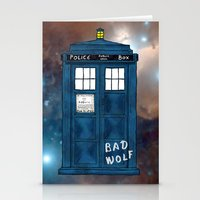 tardis Stationery Cards featuring Tardis  by Kaes