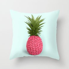 PINEAPPLE ROSES Throw Pillow