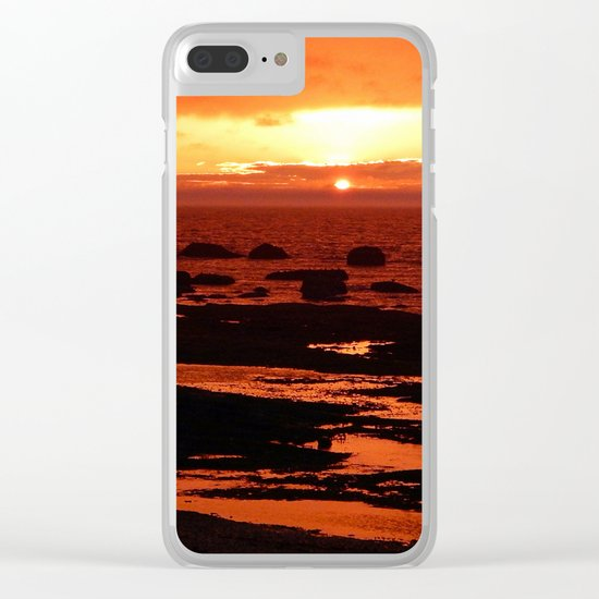 Sunset behind the Circle of Rocks Clear iPhone Case