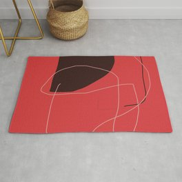 color field - red black white Rug