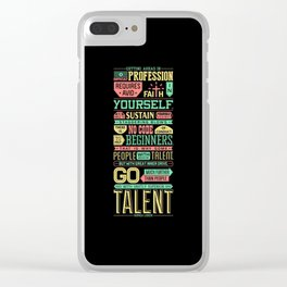 Lab No. 4 Getting Ahead Sophia Loren Motivational Quotes Clear iPhone Case