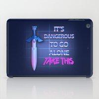 sword iPad Cases featuring Retro Sword by DonCorgi