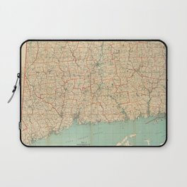 Vintage Map of Connecticut (1823) Laptop Sleeve