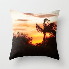 sunset in Belmont Throw Pillow
