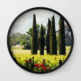 Vineyards of Napa Wall Clock