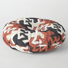 Escher lizard Floor Pillow