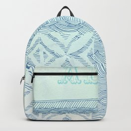 Blue Aloha Backpack