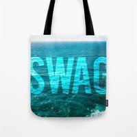 swag Tote Bags featuring SWAG by MICKEY FICKEY GALLERY