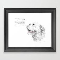 Murphy :: Loyalty [with Quote] Framed Art Print