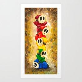 A Rainbow of Shy Guys Art Print