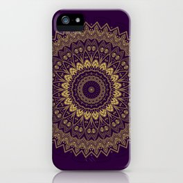 Harmony Circle of Gold on Purple iPhone Case