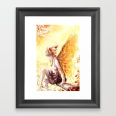 Autumn faery Framed Art Print