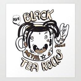Black tea rocks Art Print